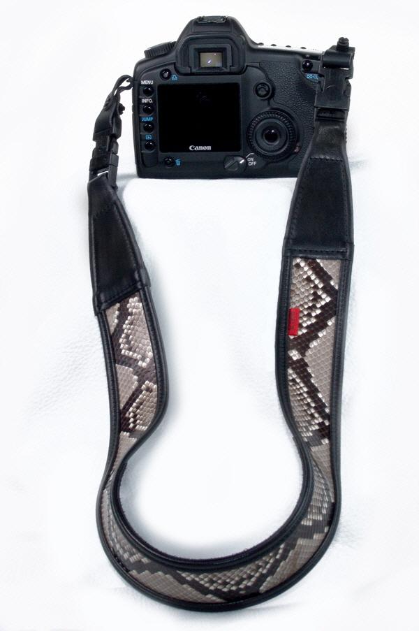 Phython skin camera strap