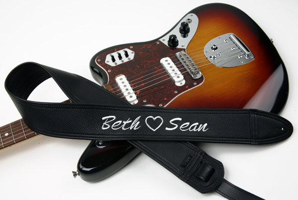 Beth Loves Sean Custom Guitar Strap