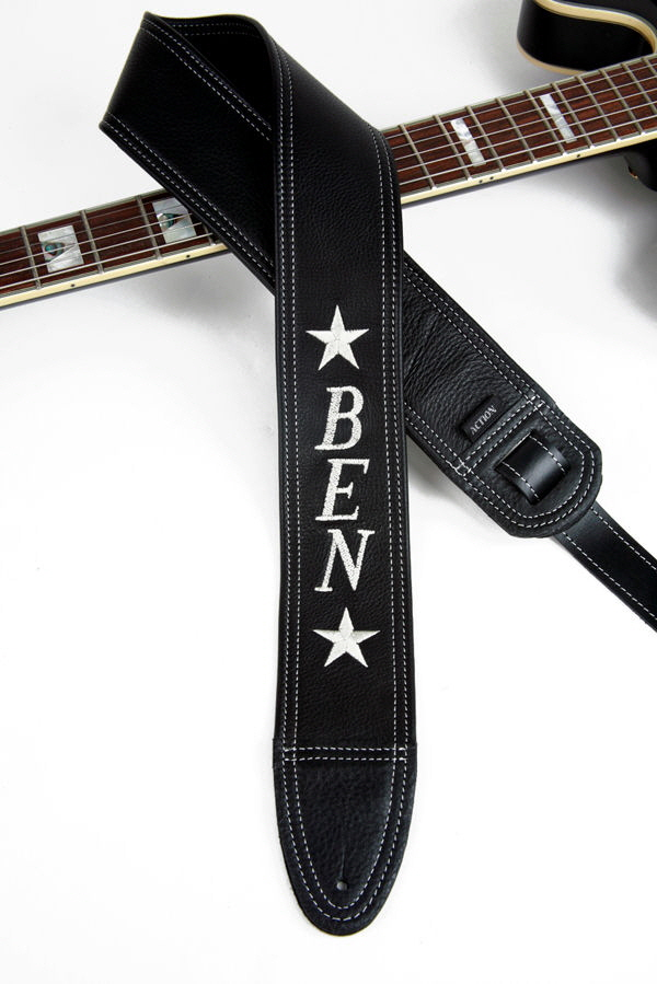Ben Embroidered Custom Guitar Strap