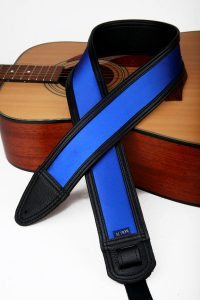 Blue Satin Custom Guitar Strap