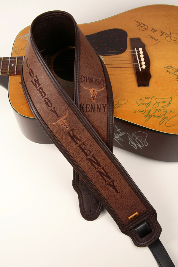 Cowboy Kenny Embroidered Custom Guitar Strap