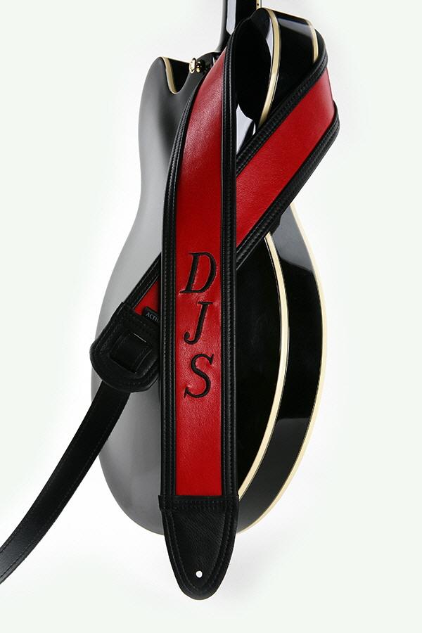 DJS Embroidered Monogram Custom Guitar Strap