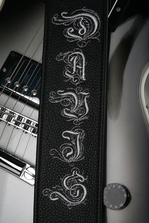 Davis Embroidered Custom Guitar Strap