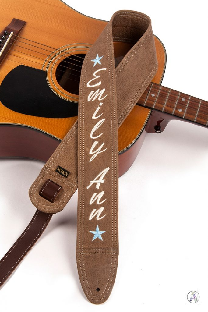 Emily Ann Embroidered Custom Guitar Strap