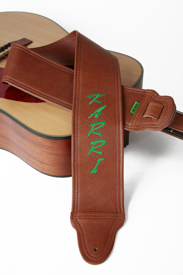 Karri Embroidered Custom Guitar Strap