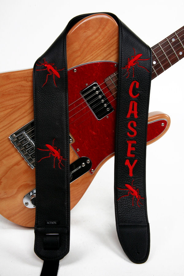 Casey Embroidered Custom Guitar Strap